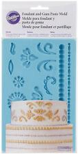 Wilton Fondant & Gum Paste Mold Imprinted Texture Cake Accent Damask Design