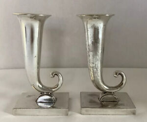Vintage, Two Silverplated Candle Holders - JB 1251
