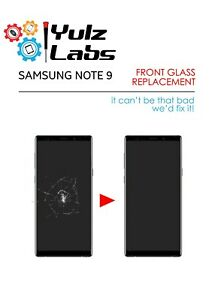 Samsung Galaxy NOTE 9 Cracked LCD OLED Screen Glass Replacement Repair Service