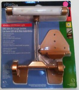 Ritelite Wireless LED Picture Light LPL600G 59 Lumens, Gold