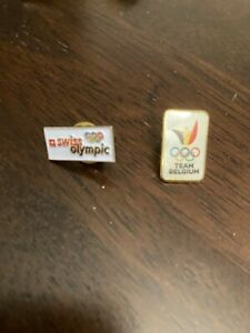 NOC olympic generic small pins, Switzerland Swiss Belgium team rings