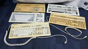 IBM Cherry & Compaq Others Job Lot 5x Vintage AT and other Interface Computer Ke