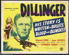 DILLINGER TC-LAWRENCE TIERNEY,CRIME,FILM NOIR-MOVIES,LC-GANGSTER-LOBBY CARD-GUNS