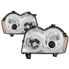 Fit 05-07 Jeep Grand Cherokee Chrome LED DRL Tube Style Projector Headlights