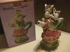 Mr. & Mrs. Bunny Ceramic 18oz Tea Pot New In Original Box