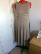ELIZA J FIT & FLARE GREY LACE RUCHED WAIST DETAIL DRESS EVENING PARTY OCCASION