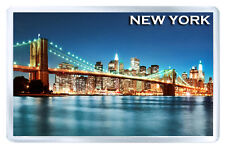 NEW YORK BROOKLYN BRIDGE MOD3 FRIDGE MAGNET SOUVENIR IMAN NEVERA