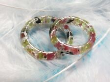 2 ORGONE Rings - Protection & Love & Luck - tourmaline, garnet, peridot, silver