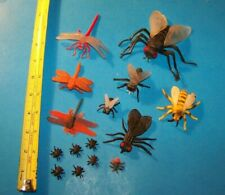 Fly & Dragonfly & Flying Insects Mixed Lot ( 15 ) Toy Figures