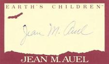 JEAN M AUEL SIGNED BOOKPLATE 3 X 5 Earth's Children Series CLAN OF THE CAVE BEAR