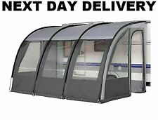 NEW 2017 CHARCOAL ONTARIO 390 ULTIMA'TE CARAVAN PORCH AWNING +UPRIGHTS & PADS