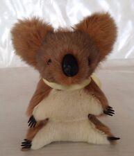 "Vintage Genuine 7"" Kangaroo Fur Stuffed Souvenir Koala Bear Made in Australia"