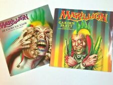 """MARILLION 2 x 1983 Prog Rock 12"""" Singles - He Knows You Know + Garden Party VG+"""