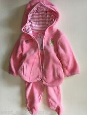 BNWT Baby Ka-Boosh Winter Fleece Jacket Hood & Pants Set Size 0 (Fits 76cm) Pink