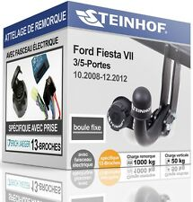 ATTELAGE rigide FORD FIESTA VII 3/5-Portes 2008-2012+FAISCEAU SPÉCIAL 13-broches