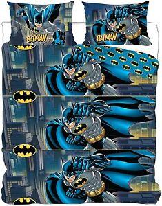 Batman Double Duvet Cover Bedding Set Reversible DC Comics Superhero