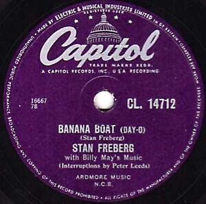 Plátano Barco ( Day-O ) Stan Freberg Clásico Comedia 78 Bw Tele Vee Shun CL