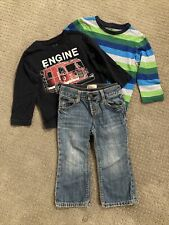 BabyGAP 3 Piece Set: Jeans and 2 Long Sleeve T-shirts - 18-24 Months EUC!