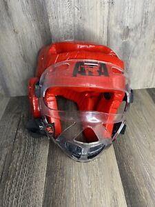 ATA Sparring Gear Padded Helmet Taekwondo Martial Arts Karate Adult Medium