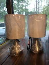 """2-Pack Light Accents 13"""" Tall Touch Lamp Accent Light  3 Stage Touch Dimmer"""