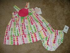 BONNIE JEAN BABY DRESS SET POLKA DOT FLOWER 18M 18 months m NWT NEW INFANT GIRLS