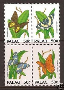 PALAU ISLAND #'s 300a-d MNH Butterflies