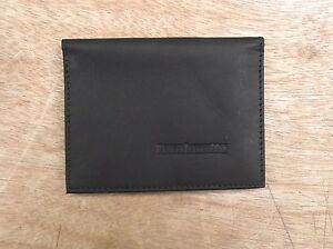 Lambretta logo Black Leather wallet credit card size, licence / ID holder vs933