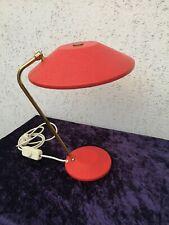Leuchte Tischlampe Schrumpflack Messing mid century 50er Jahre