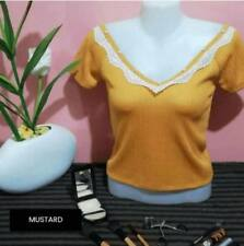Eliza V Neck Top F12 (Mustard)
