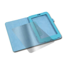CASE COVER+SCREEN PROTECTOR POUCH FLIP PU LEATHER AQUA BLUE GOOGLE ASUS NEXUS 7""