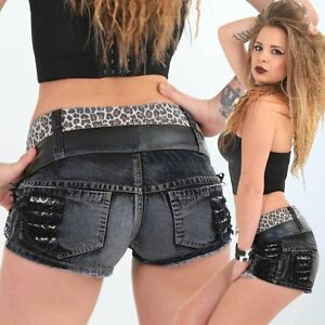 Crazy Hotpants leopard  kurze Hose Panty schwarz Tiger Beach Party