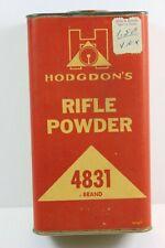 Hodgdon'S # 4831 Rifle Powder Paper Label Tin ( Empty ) w/ Retail Sticker Affixe