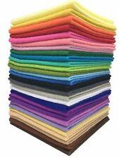 28pcs 20 x 20 Thick Soft Sheets Wool Felt bundle Wool Blend Felt Assorted Colors