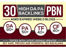 30 Pbn Backlinks , High Da Pa Aged Domains  Posts ! Quality SEO .