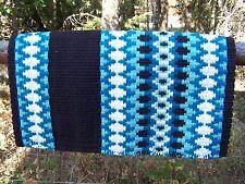 Custom Santa Cruz Show Blanket - 38x34 (Coffee Base/Turq and Cream) by Mayatex