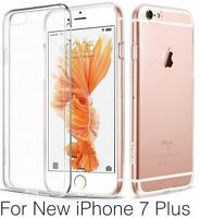 For New Apple iPhone 7 or 7 Plus TPU Gel Jelly Skin Case Cover Crystal Clear