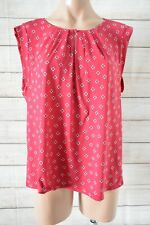 Tokito Tank Top Blouse Size 14 Red Pink White Black Polka Dot Shorts Sleeve