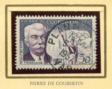 STAMP / TIMBRE FRANCE OBLITERE N° 1088 / CELEBRITE / PIERRE DE COUBERTIN