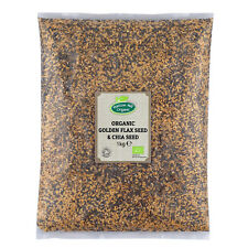 Organic Golden FLAX SEED (Linseed) & Chia Seed Mix 1 kg