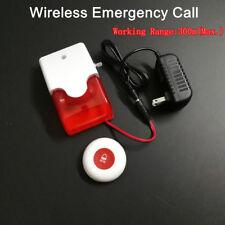 Wireless Call Help SOS Panic Emergency Alarm w/ waterproof button for washroom