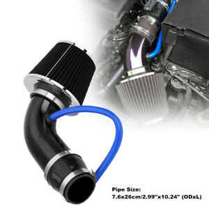 76MM OD. Car Cold Air Intake Filter Pipe Power Flow Hose System Set Universal