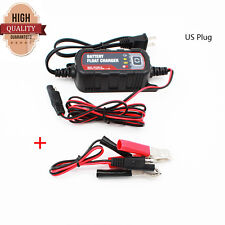New 12/6V Motorcycle Car Boat Battery Charger Maintainer For Lead Acid Batteries