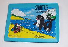 Vintage 1960s Gift Shop SEA WORLD SHAMU Whale Autograph Book Amusement Park