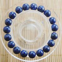 "New 10mm beautiful  Natural lapis lazuli Round Beads bracelet 7.5 """