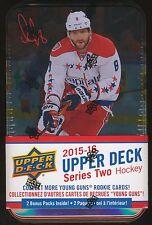 2015-16 Upper Deck Series 2 Hockey SEALED 12-pack TIN BOX Jumbo + 3 Young Guns!