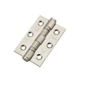 "3"" Grade 7 Ball Bearing Hinge Satin Stainless Steel (pair) 76x51mm ECLIPSE 14852"