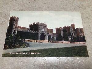 1900s colour postcard . cyfarthfa castle - merthyr tydfil