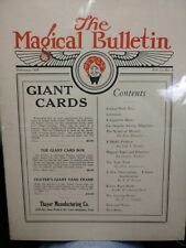 Thayer's The Magical Bulletin February 1924 Vol.11 No.4