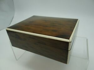 A Vintage Cigar/ Cigarette Box with Bone Inlay on the Edges