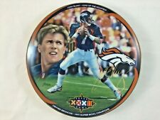 John Elway King Of The Mountain Super Bowl Champion Plate Bradford Exchange 1998